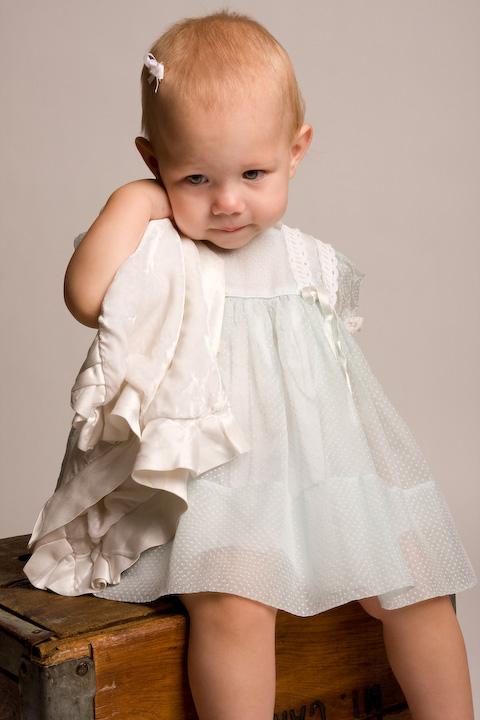 Baby in a Blue Dress
