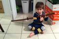 Wooden Sword Guitar