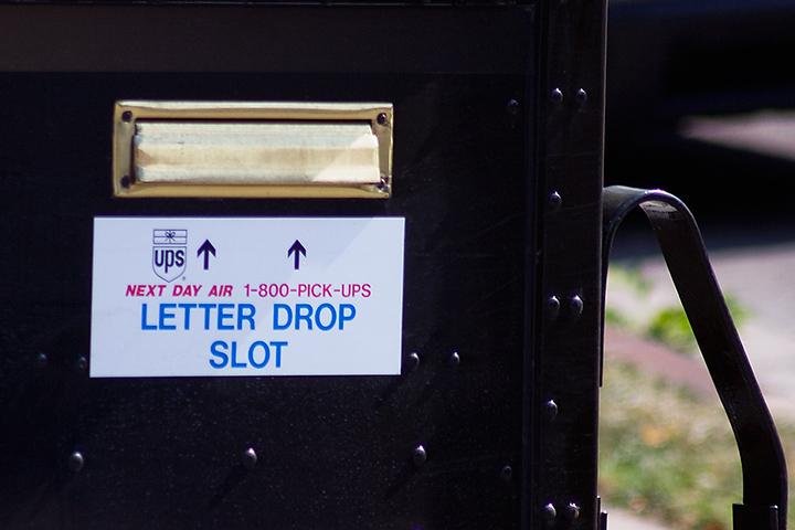 UPS Drop Slot
