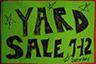 Tomorrow's Yard Sale Today!